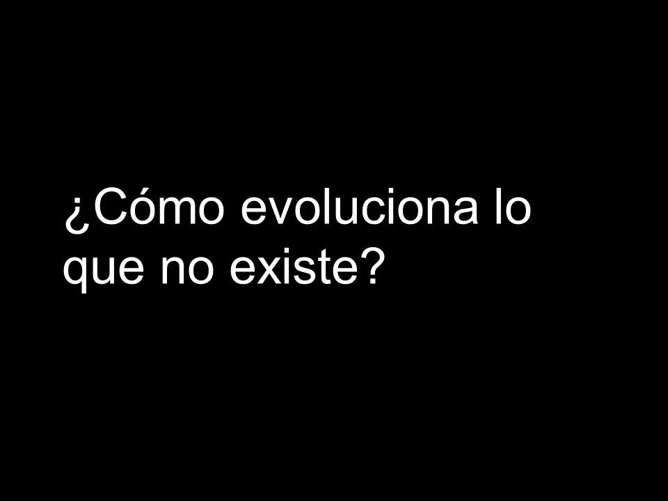 ¿Cómo evoluciona lo que no existe