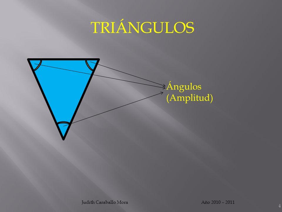 TRIÁNGULOS Ángulos (Amplitud) Judith Caraballo Mora Año 2010 – 2011