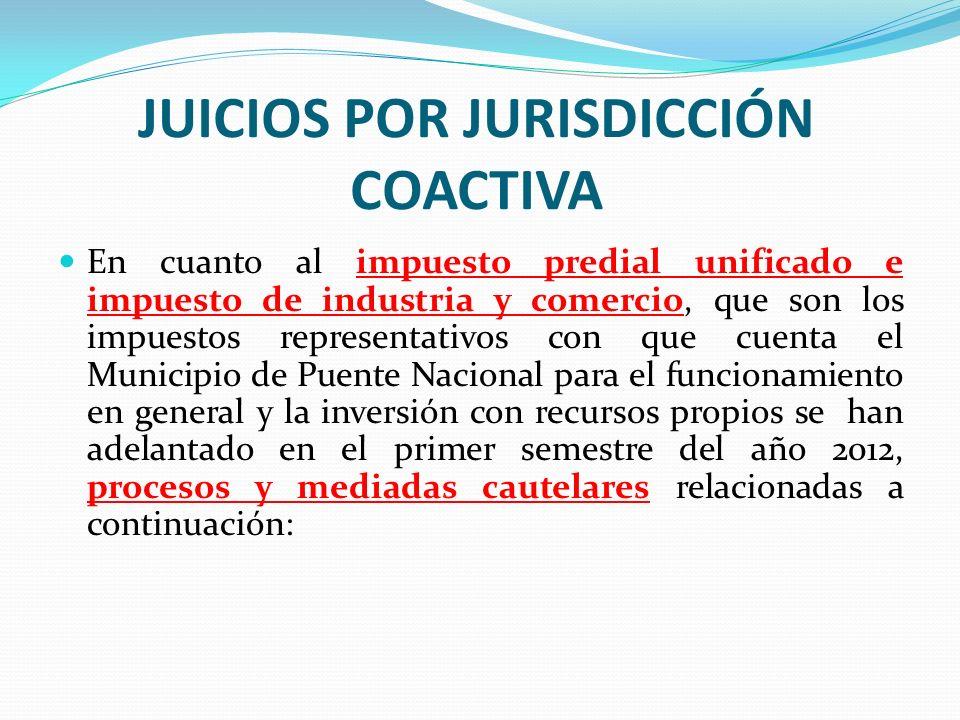 JUICIOS POR JURISDICCIÓN COACTIVA