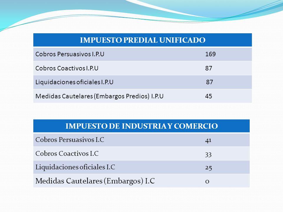 IMPUESTO PREDIAL UNIFICADO IMPUESTO DE INDUSTRIA Y COMERCIO