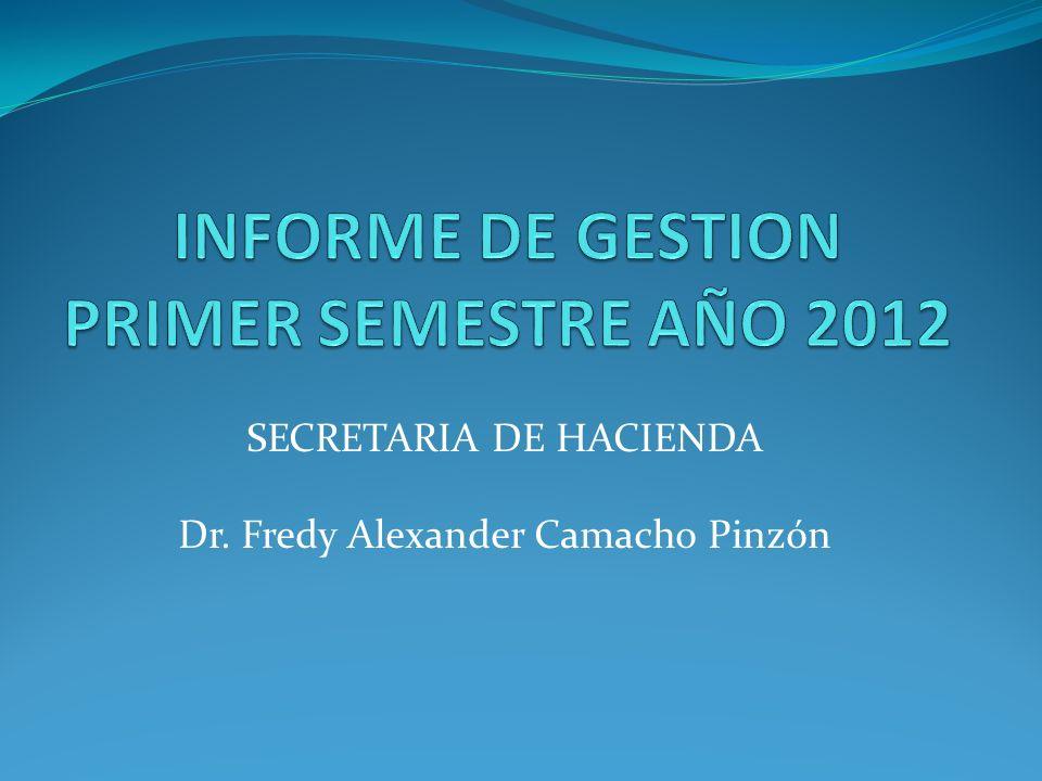 INFORME DE GESTION PRIMER SEMESTRE AÑO 2012