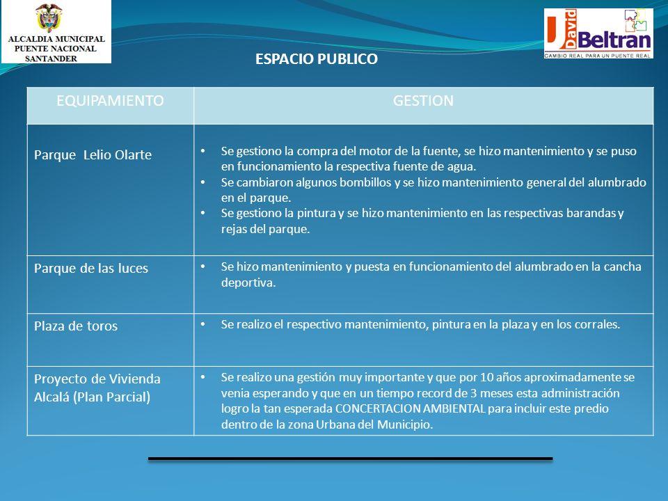 ESPACIO PUBLICO EQUIPAMIENTO GESTION Parque Lelio Olarte