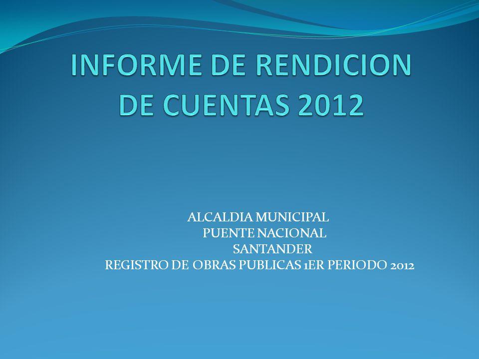 INFORME DE RENDICION DE CUENTAS 2012