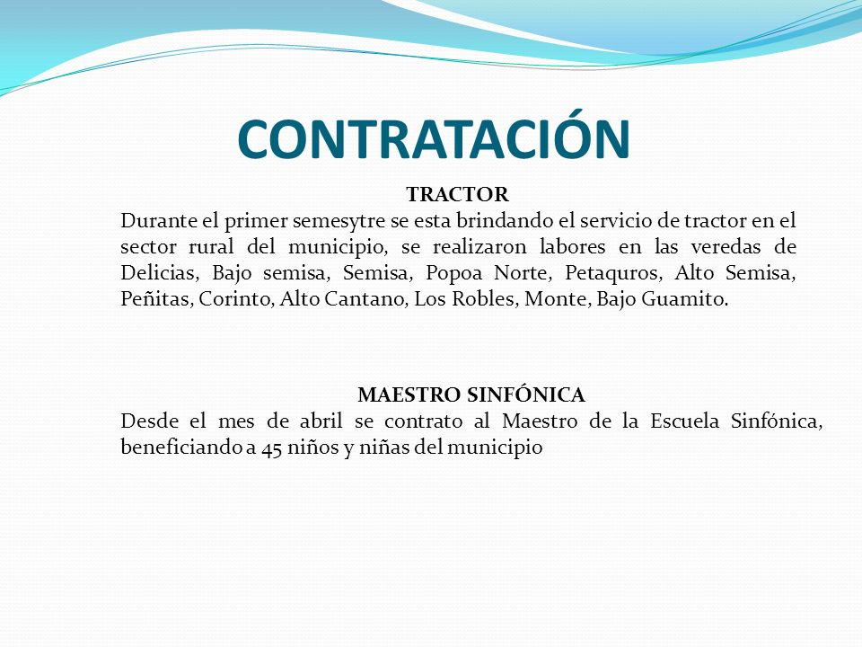 CONTRATACIÓN TRACTOR.