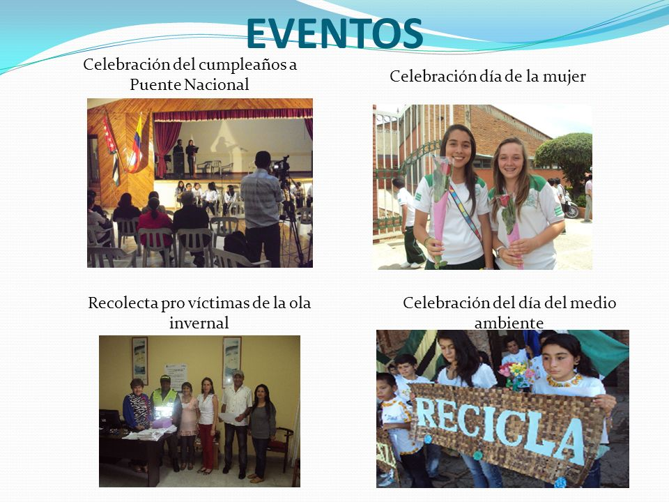 EVENTOS Celebración del cumpleaños a Puente Nacional