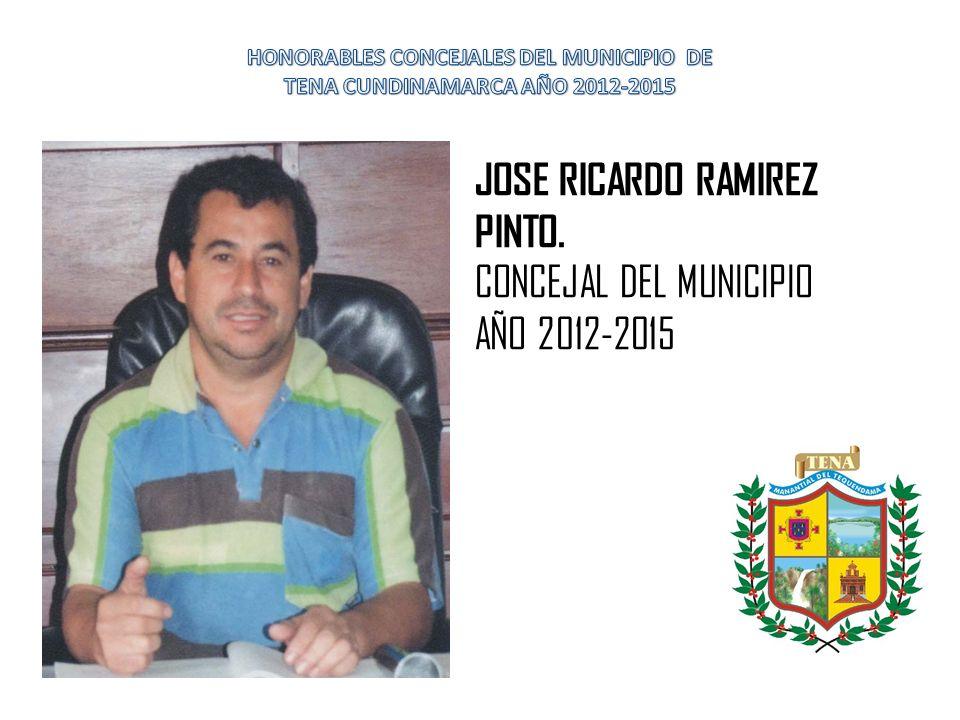 HONORABLES CONCEJALES DEL MUNICIPIO DE TENA CUNDINAMARCA AÑO 2012-2015