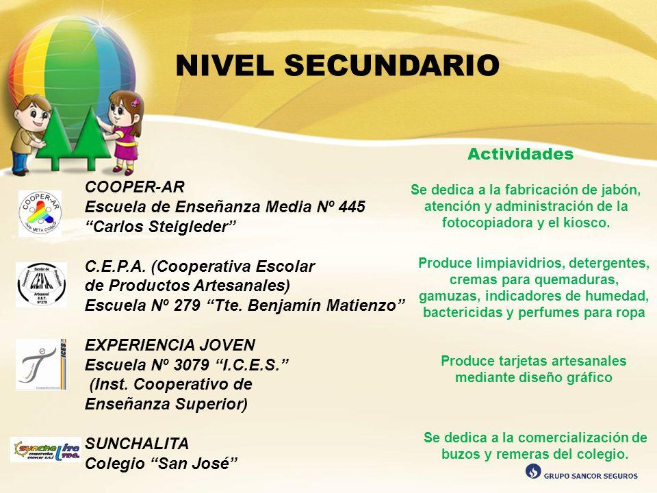 NIVEL SECUNDARIO Actividades COOPER-AR