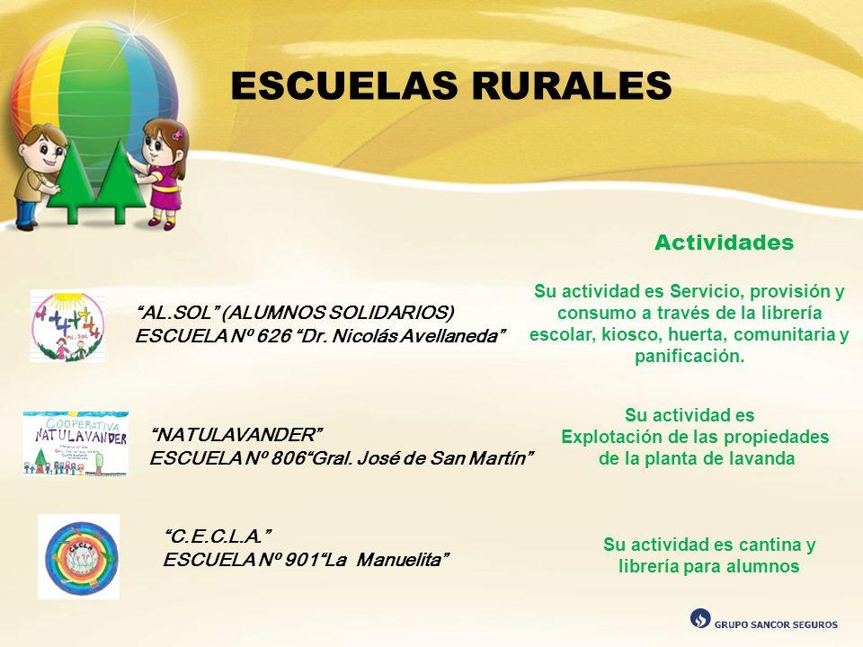 ESCUELAS RURALES Actividades AL.SOL (ALUMNOS SOLIDARIOS)