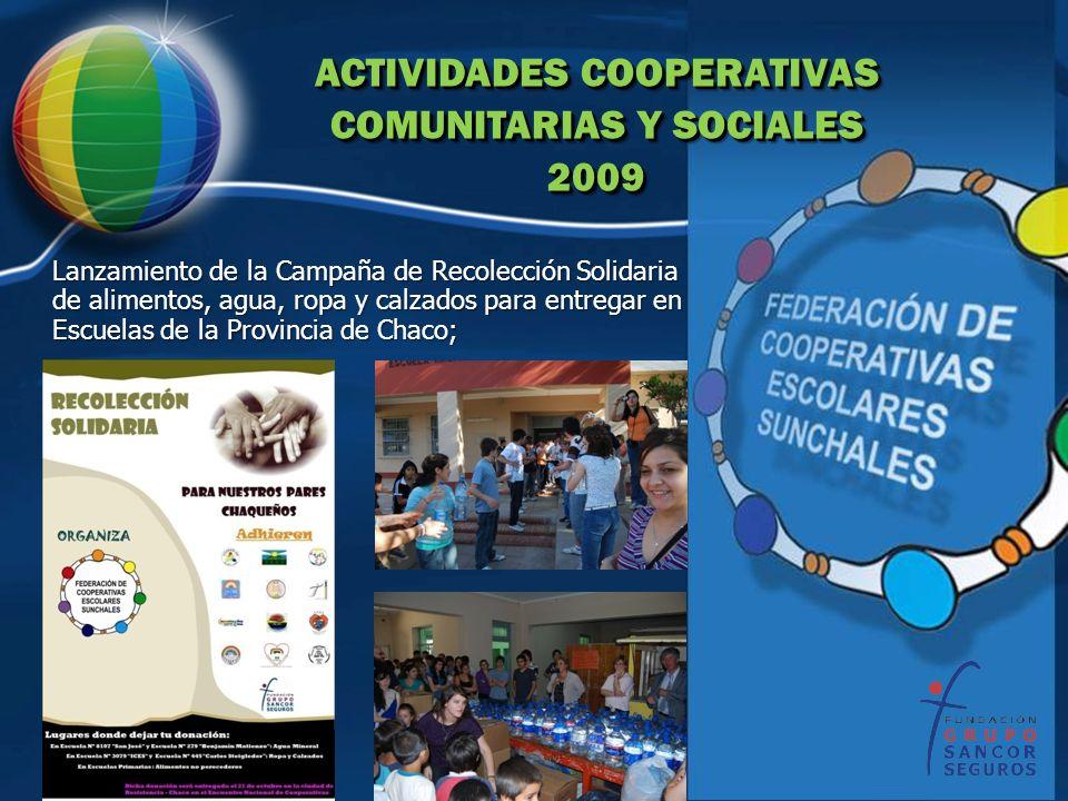 ACTIVIDADES COOPERATIVAS COMUNITARIAS Y SOCIALES 2009