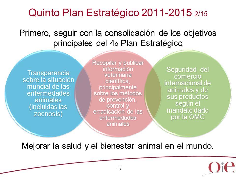 Quinto Plan Estratégico 2011-2015 2/15