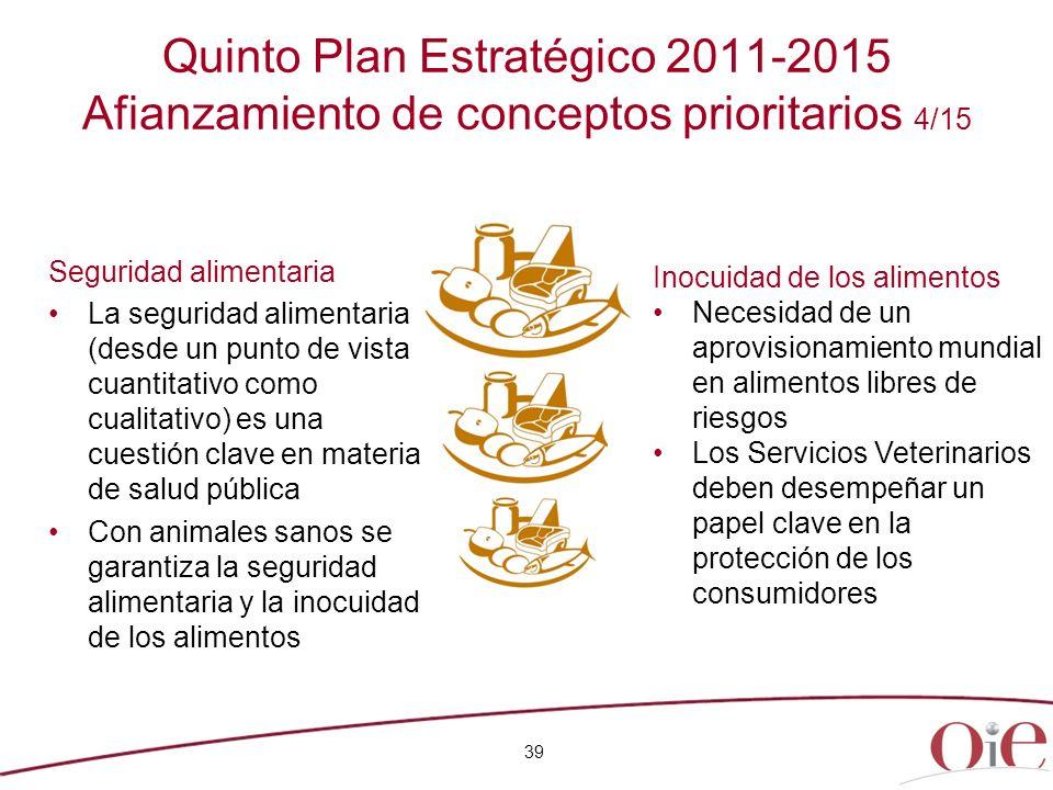 Quinto Plan Estratégico 2011-2015 Afianzamiento de conceptos prioritarios 4/15