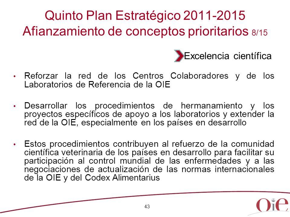 Quinto Plan Estratégico 2011-2015 Afianzamiento de conceptos prioritarios 8/15