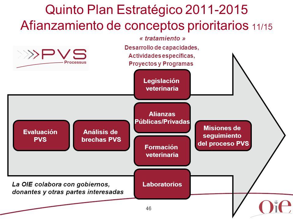 Quinto Plan Estratégico 2011-2015 Afianzamiento de conceptos prioritarios 11/15