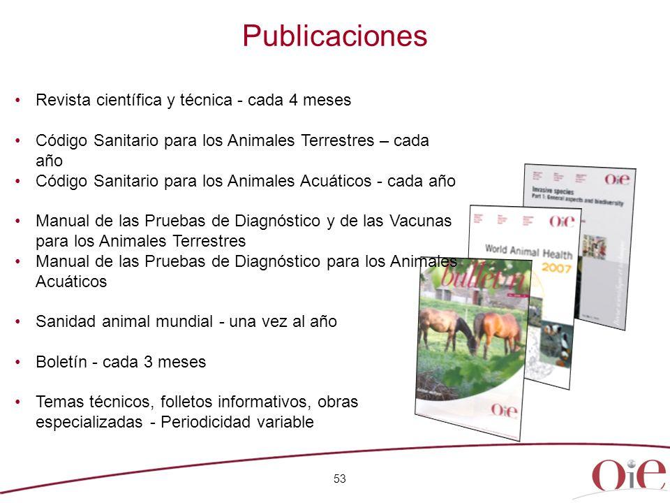 Publicaciones Revista científica y técnica - cada 4 meses