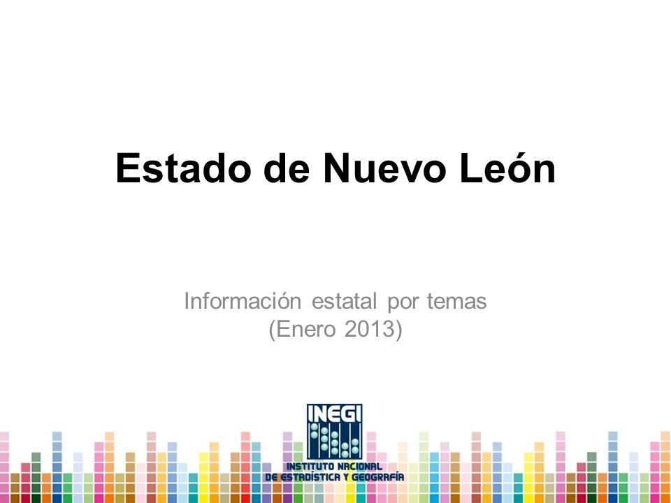 Información estatal por temas (Enero 2013)