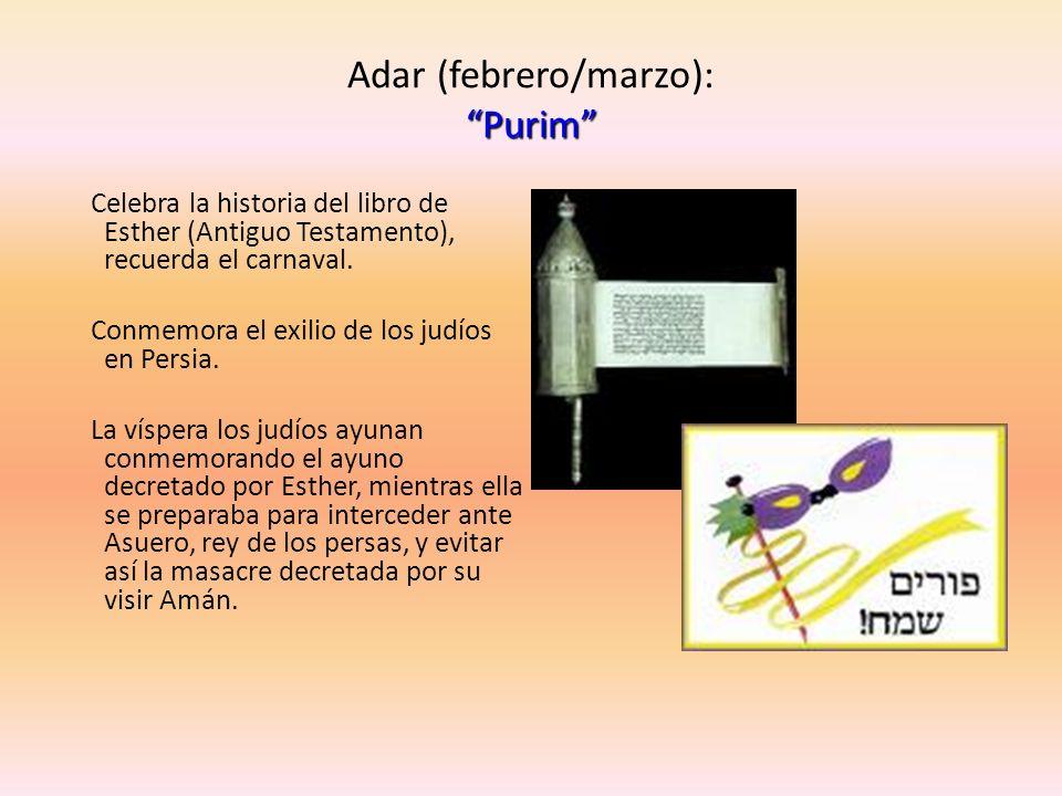 Adar (febrero/marzo): Purim