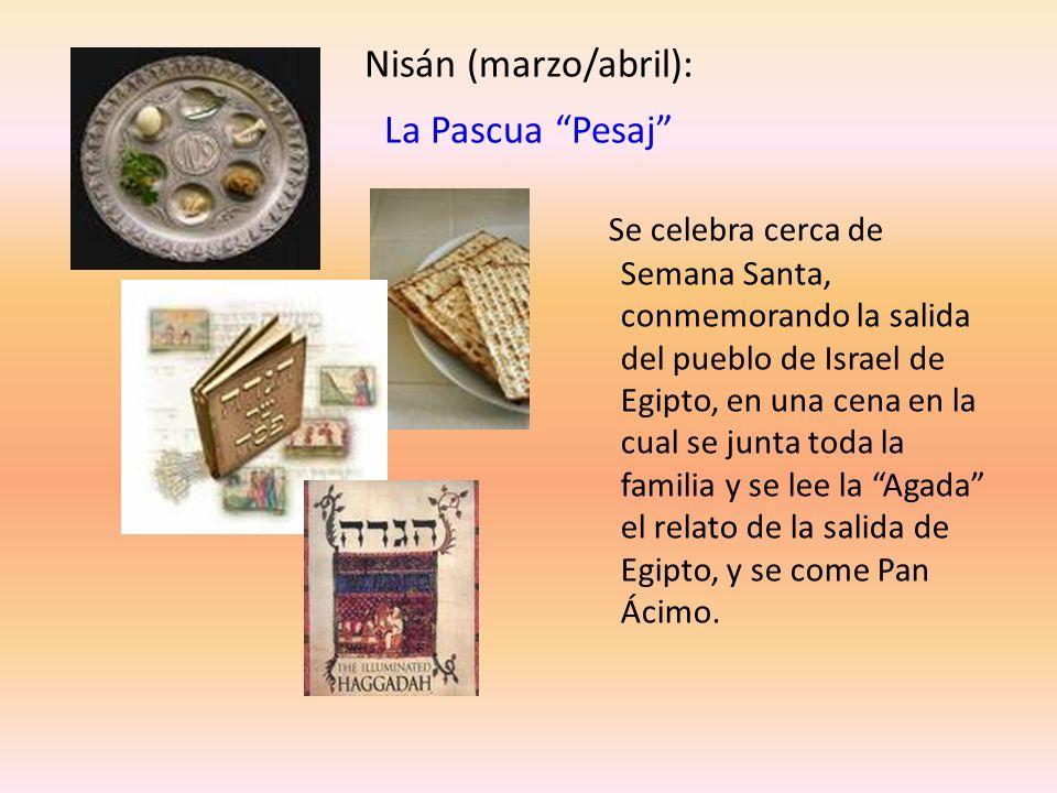 Nisán (marzo/abril): La Pascua Pesaj