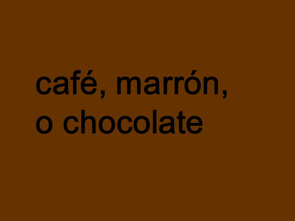 café, marrón, o chocolate