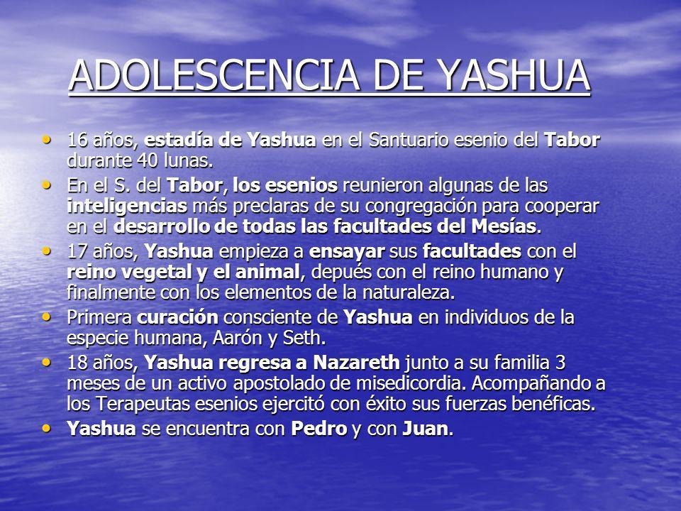 ADOLESCENCIA DE YASHUA