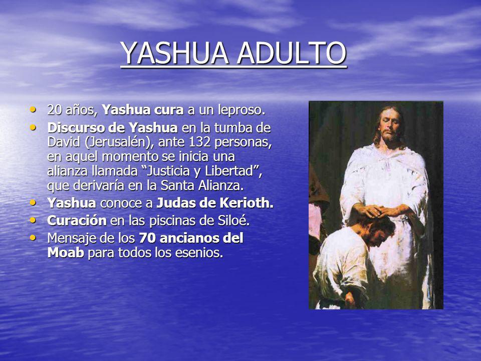 YASHUA ADULTO 20 años, Yashua cura a un leproso.