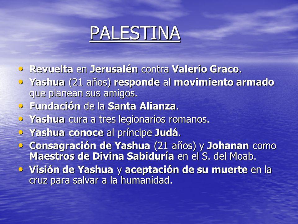 PALESTINA Revuelta en Jerusalén contra Valerio Graco.
