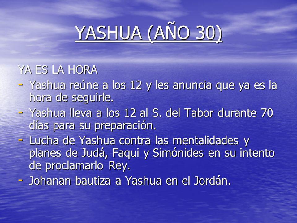YASHUA (AÑO 30) YA ES LA HORA