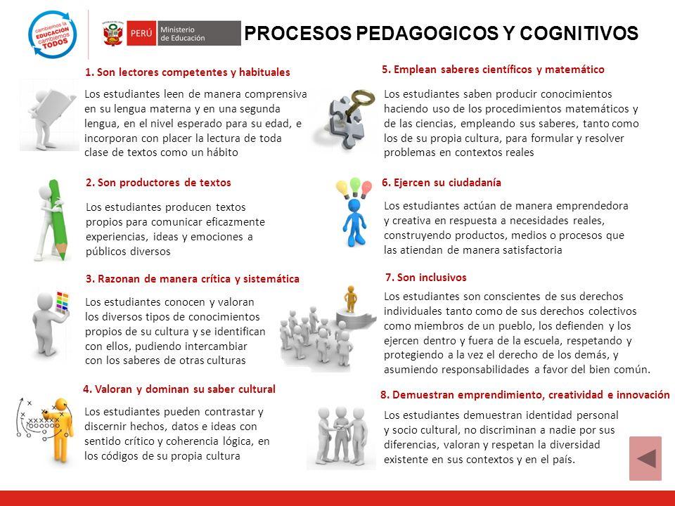 PROCESOS PEDAGOGICOS Y COGNITIVOS