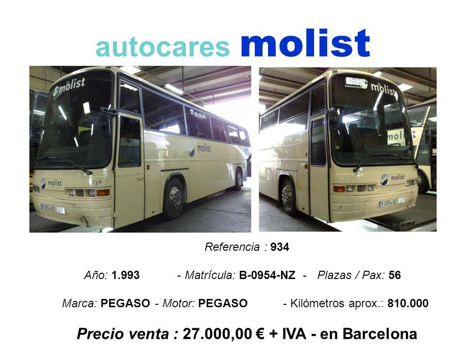 Precio venta : 27.000,00 € + IVA - en Barcelona