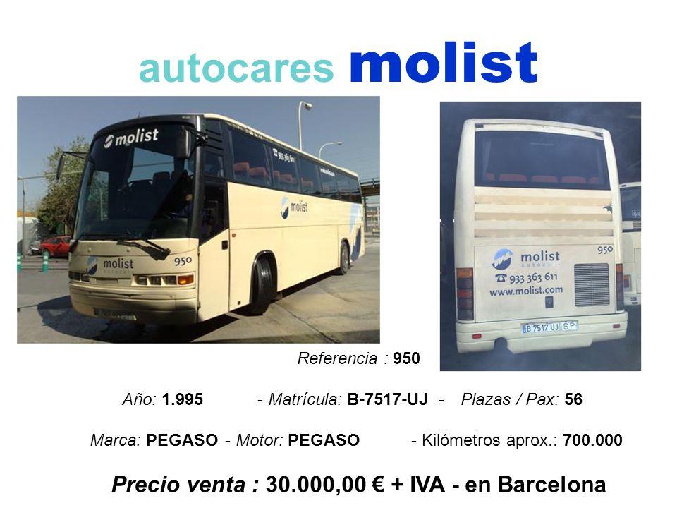 Precio venta : 30.000,00 € + IVA - en Barcelona