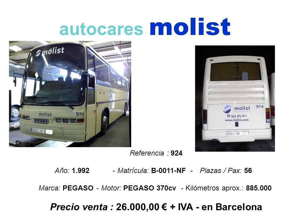 Precio venta : 26.000,00 € + IVA - en Barcelona