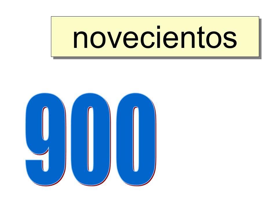 novecientos 900