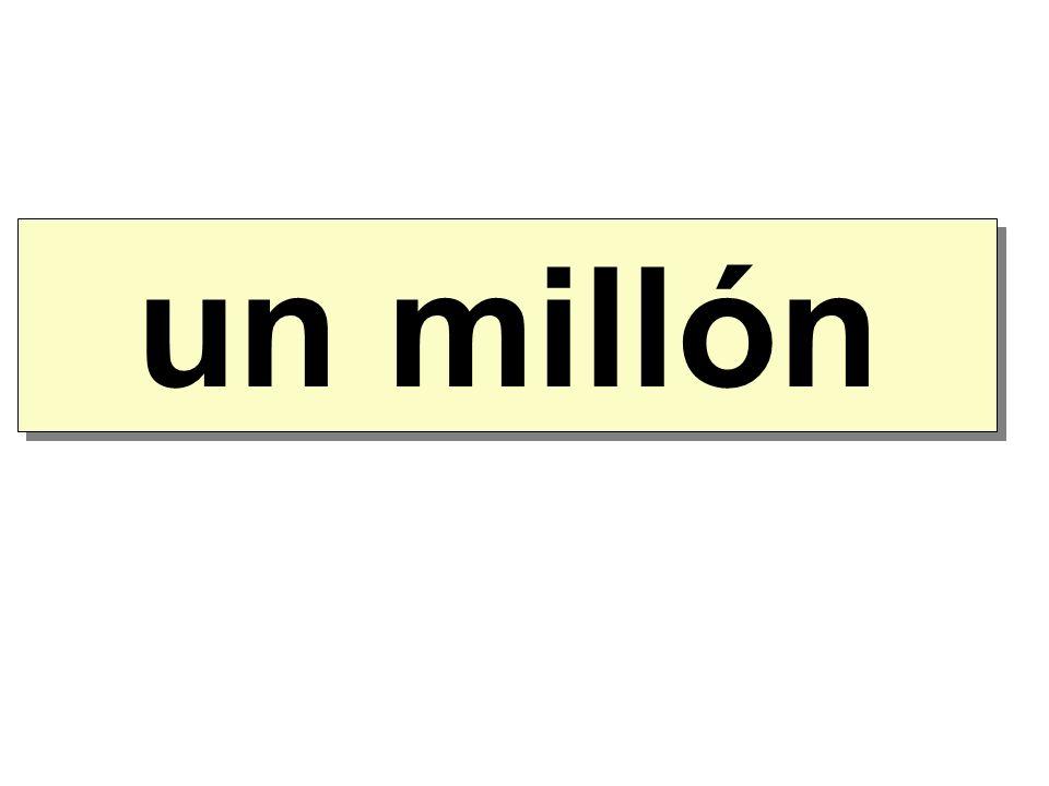 un millón mil