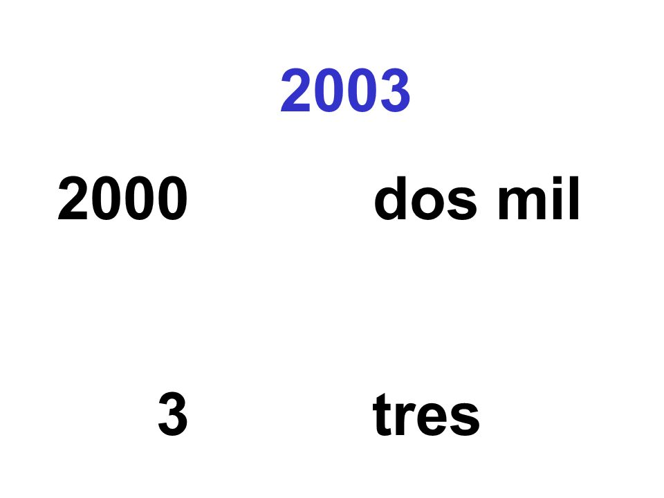 2003 2000 dos mil 3 tres
