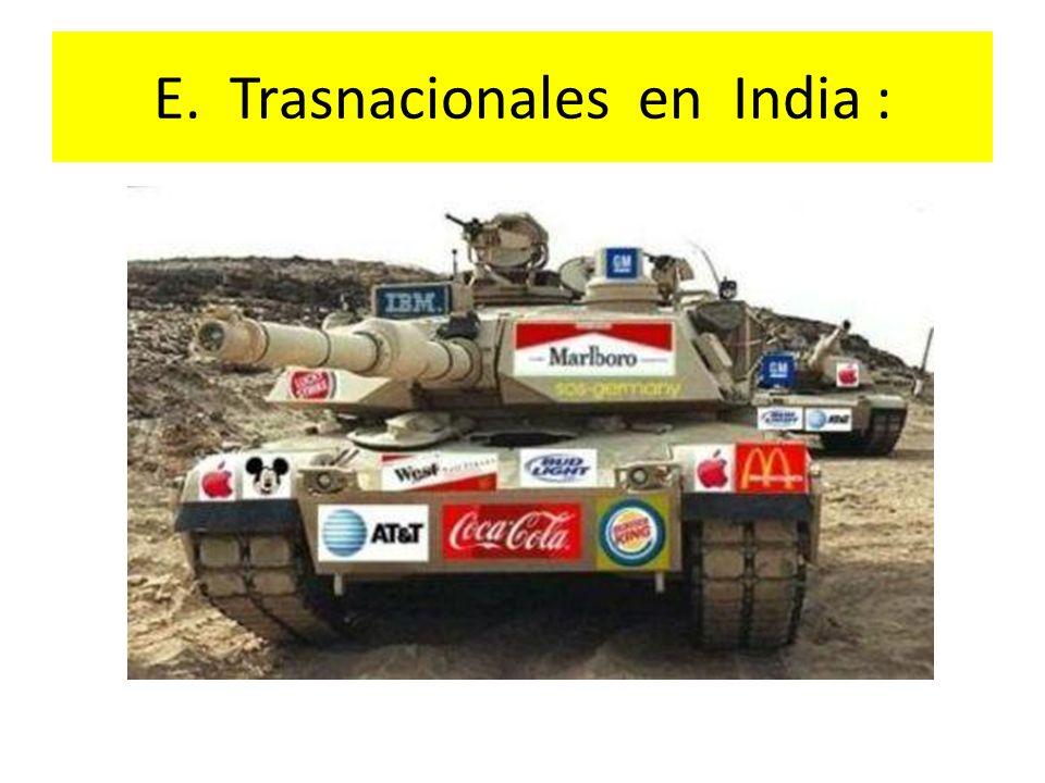 E. Trasnacionales en India :