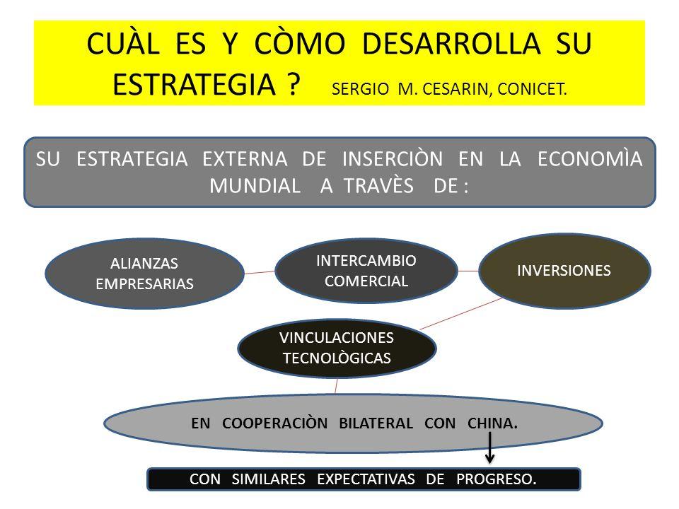 CUÀL ES Y CÒMO DESARROLLA SU ESTRATEGIA SERGIO M. CESARIN, CONICET.