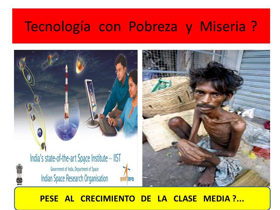 Tecnología con Pobreza y Miseria