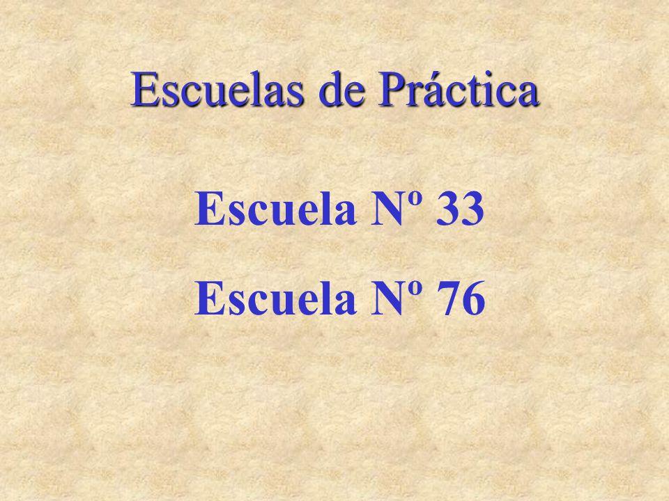 Escuelas de Práctica Escuela Nº 33 Escuela Nº 76