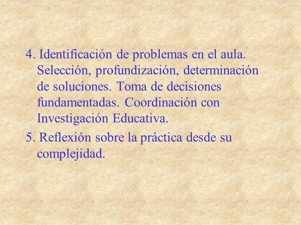 4. Identificación de problemas en el aula
