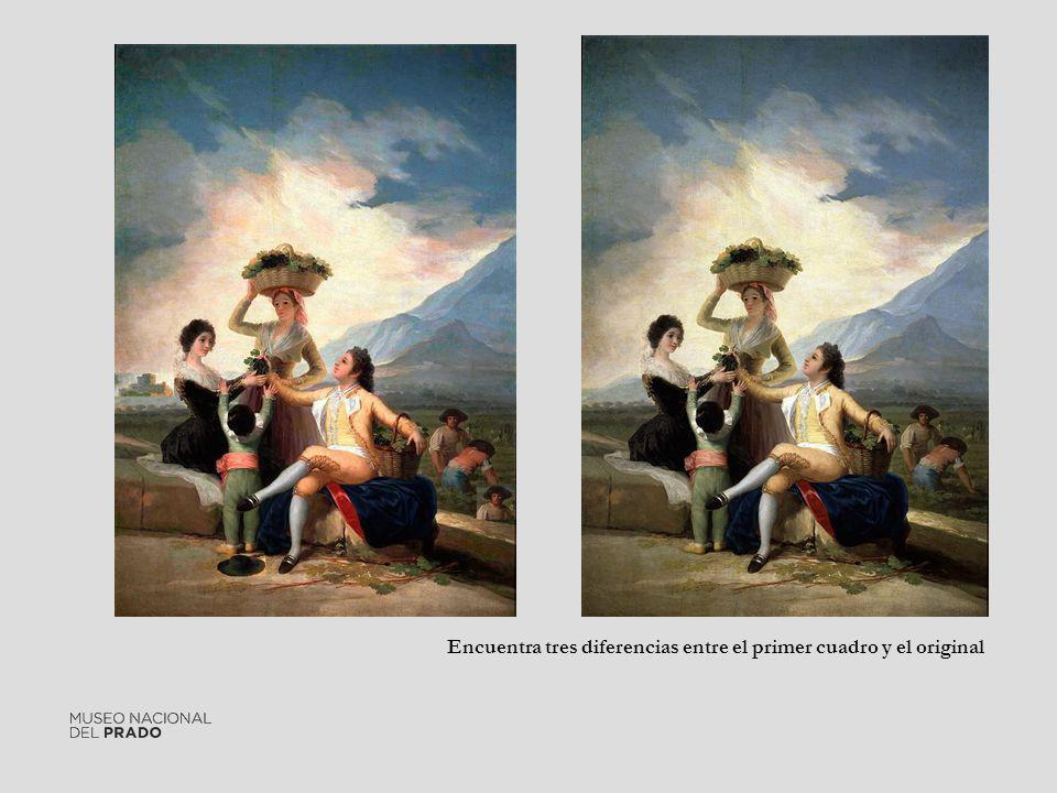 Encuentra tres diferencias entre el primer cuadro y el original
