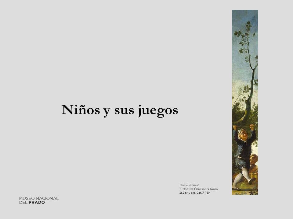 Niños y sus juegos El niño del árbol 1779-1780. Óleo sobre lienzo
