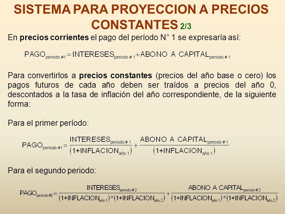 SISTEMA PARA PROYECCION A PRECIOS CONSTANTES 2/3