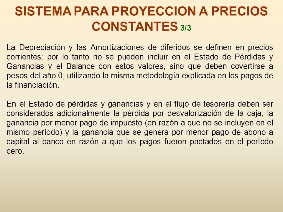 SISTEMA PARA PROYECCION A PRECIOS CONSTANTES 3/3