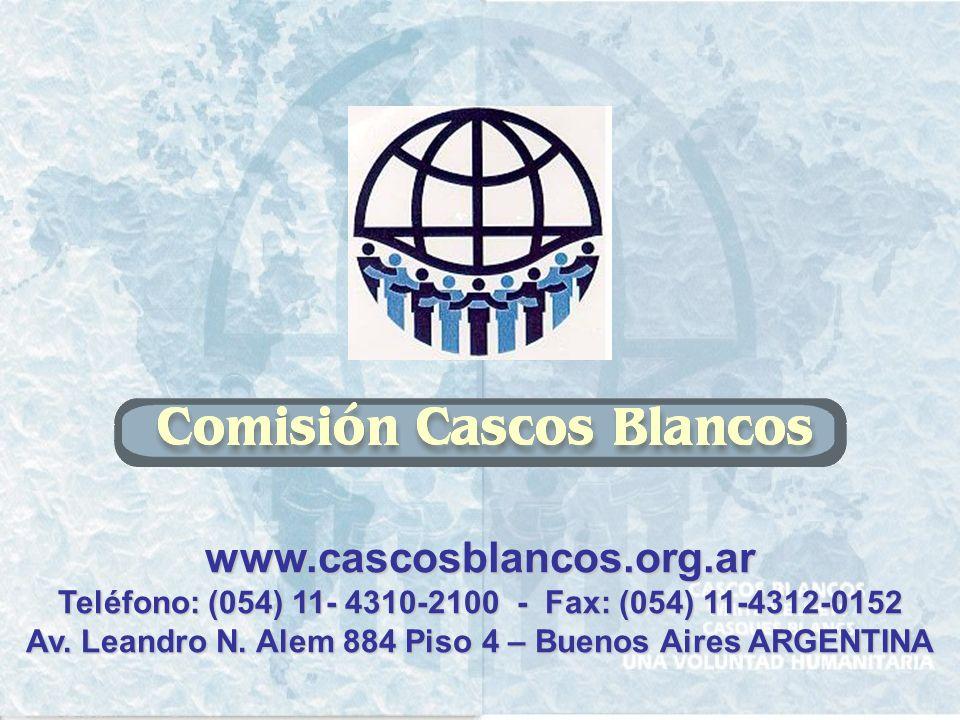 www.cascosblancos.org.ar Teléfono: (054) 11- 4310-2100 - Fax: (054) 11-4312-0152.