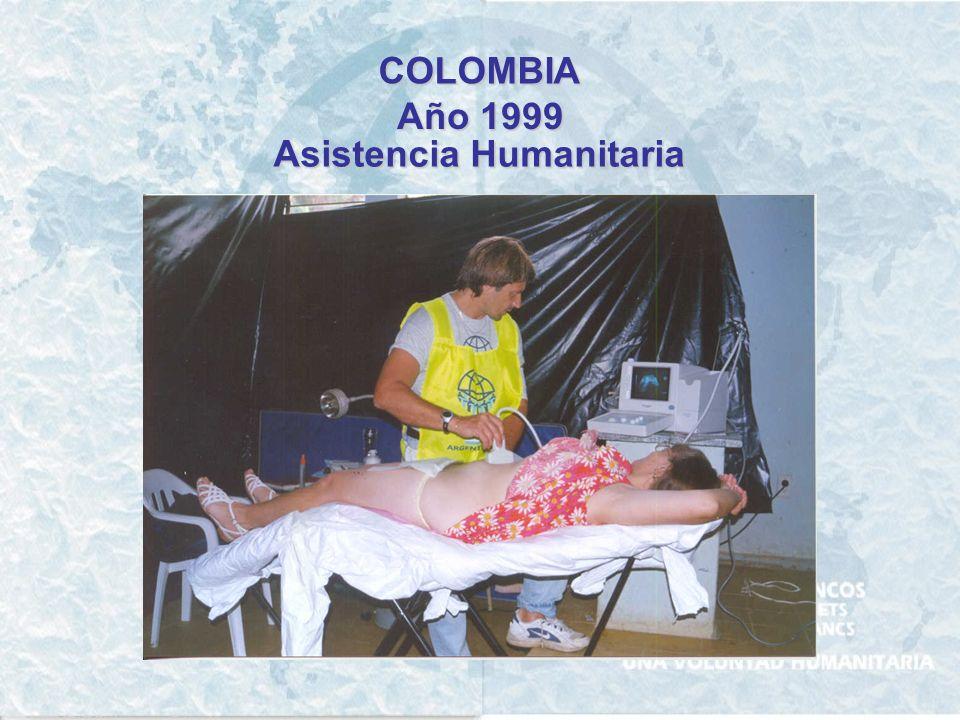 COLOMBIA Año 1999 Asistencia Humanitaria