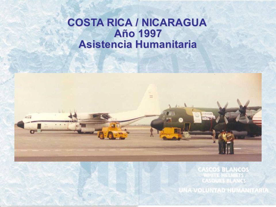 COSTA RICA / NICARAGUA Año 1997 Asistencia Humanitaria
