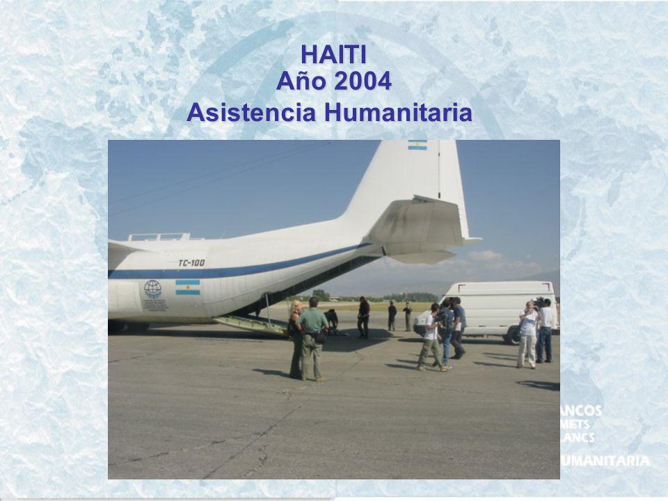 HAITI Año 2004 Asistencia Humanitaria