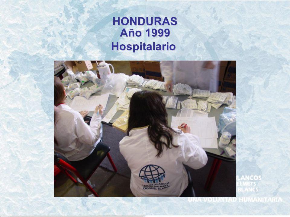 HONDURAS Año 1999 Hospitalario