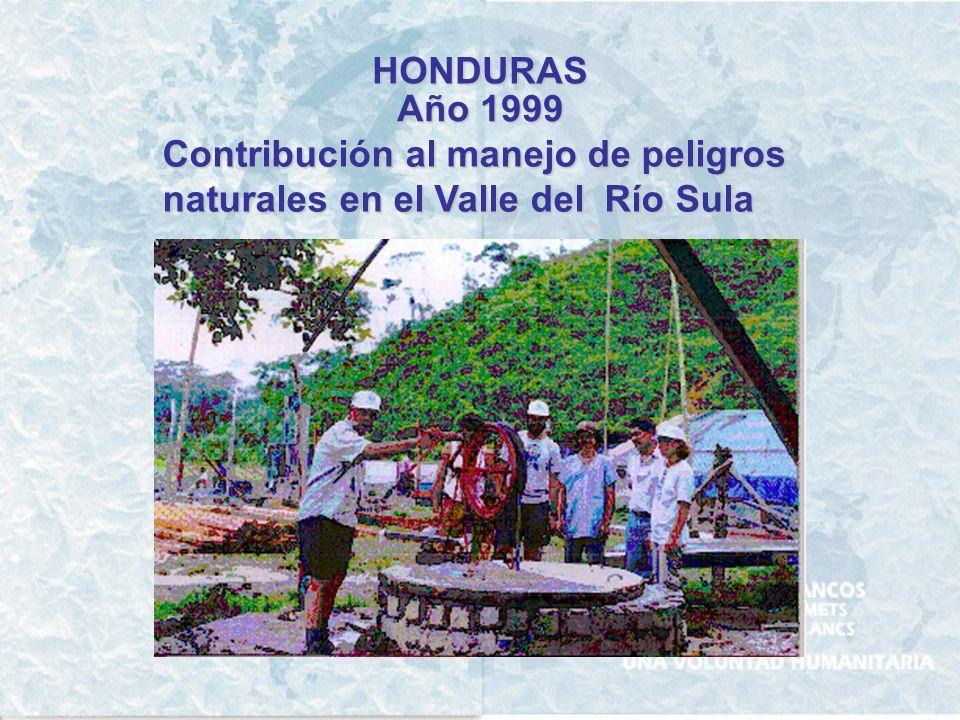 HONDURAS Año 1999 Contribución al manejo de peligros naturales en el Valle del Río Sula