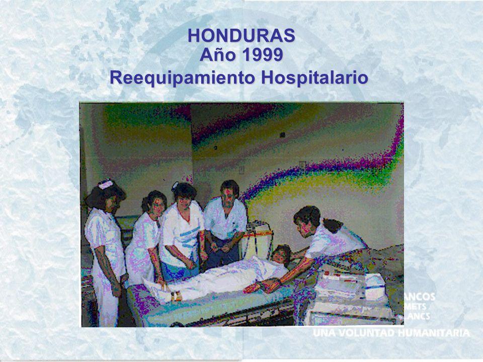 HONDURAS Año 1999 Reequipamiento Hospitalario