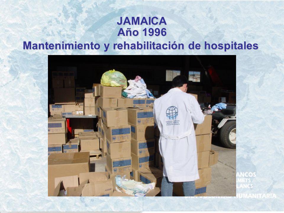 JAMAICA Año 1996 Mantenimiento y rehabilitación de hospitales